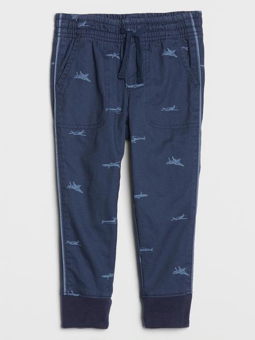 Erkek Bebek Mavi Astarlı Pull-On Pantolon