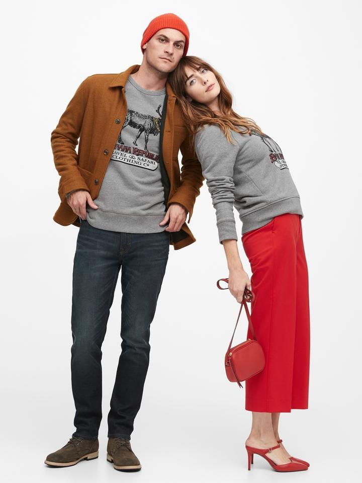 Ren Geyiği Desenli Sweatshirt
