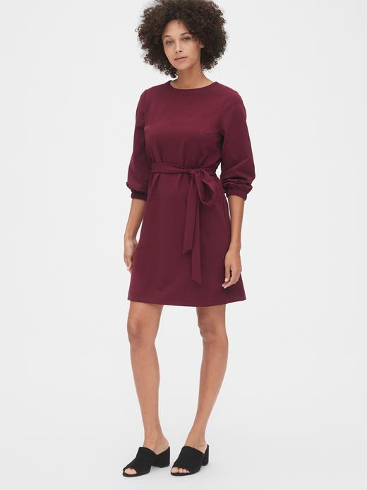 Kadın Kırmızı Balon Kollu Elbise