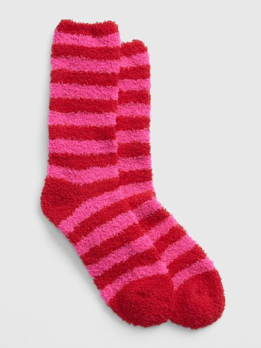 Kadın Kırmızı Desenli Yumuşak Dokulu Çorap