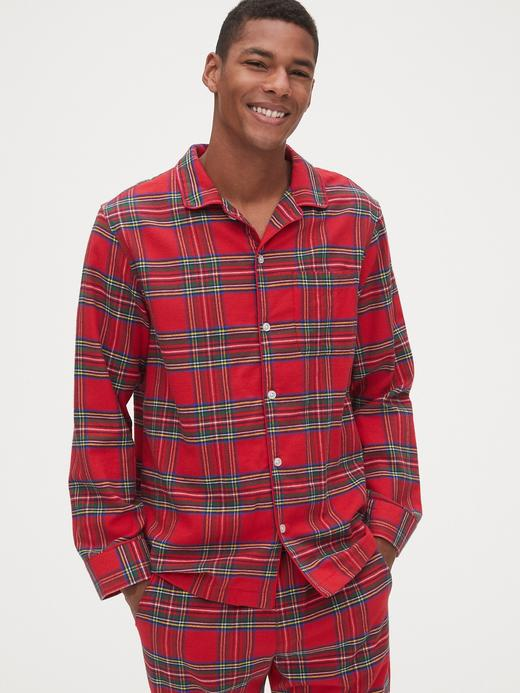 Erkek Kırmızı Ekose Pijama Takımı