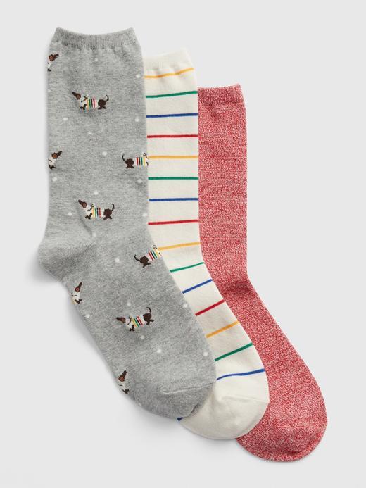 Kadın Çok renkli 3'lü Desenli Çorap Seti