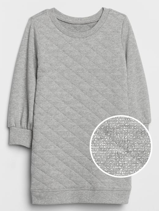 Kız Bebek Gri Sweatshirt Elbise