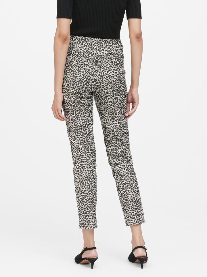 Kadın Siyah Modern Sloan Skinny-Fit Leopar Desenli Pantolon