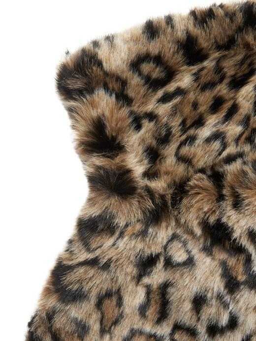 Kadın Kahverengi Leopar Desenli Bomber Ceket