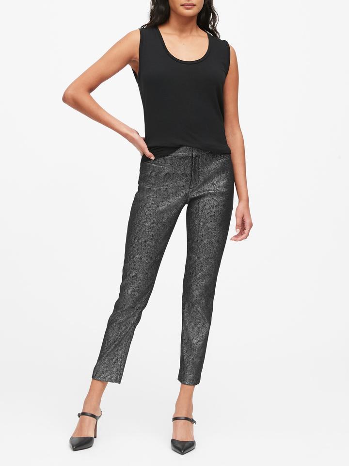 Modern Sloan Skinny-Fit Metalik Pantolon