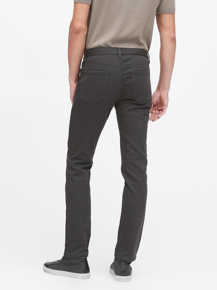 Erkek Siyah Slim Traveler Pantolon