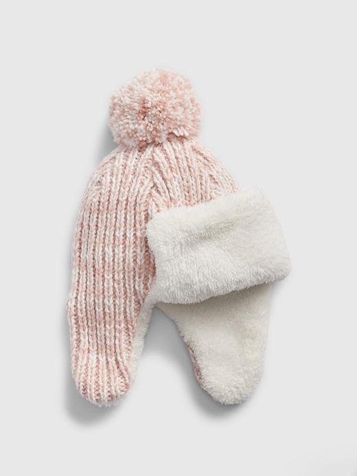 Kız Çocuk Pembe Ponponlu Şapka