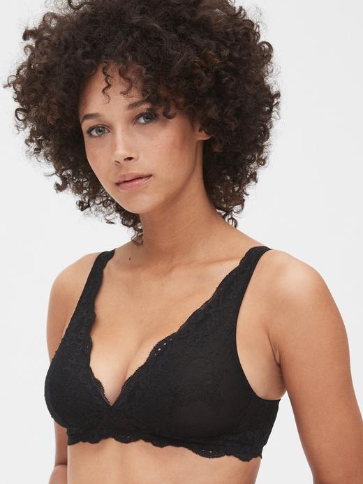Kadın Siyah Dantel Bralet
