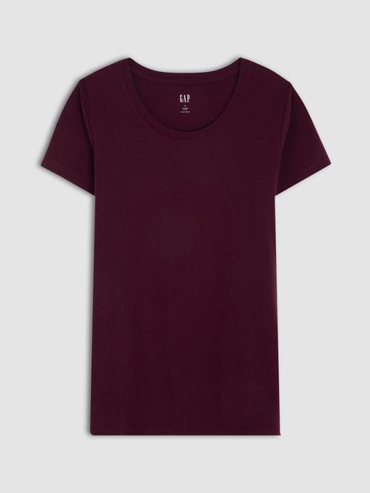 Kadın Kırmızı Kısa Kollu Jarse T-Shirt