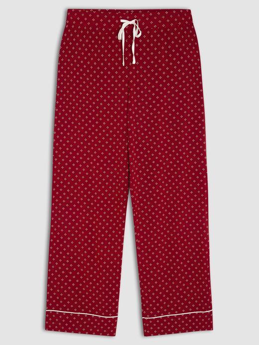 Kadın Kırmızı Desenli Pijama Altı