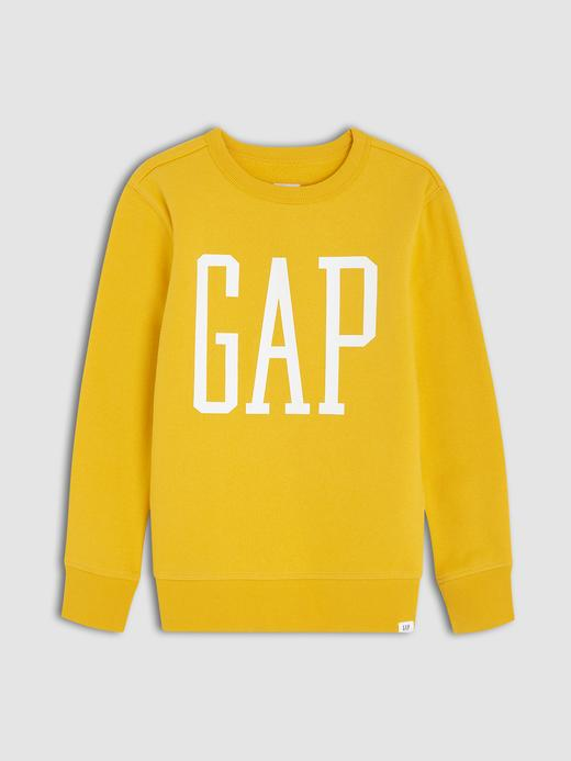 Erkek Çocuk Sarı Gap Logo Yuvarlak Yaka Sweatshirt