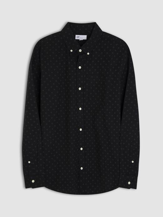 Erkek Siyah Desenli Oxford Gömlek