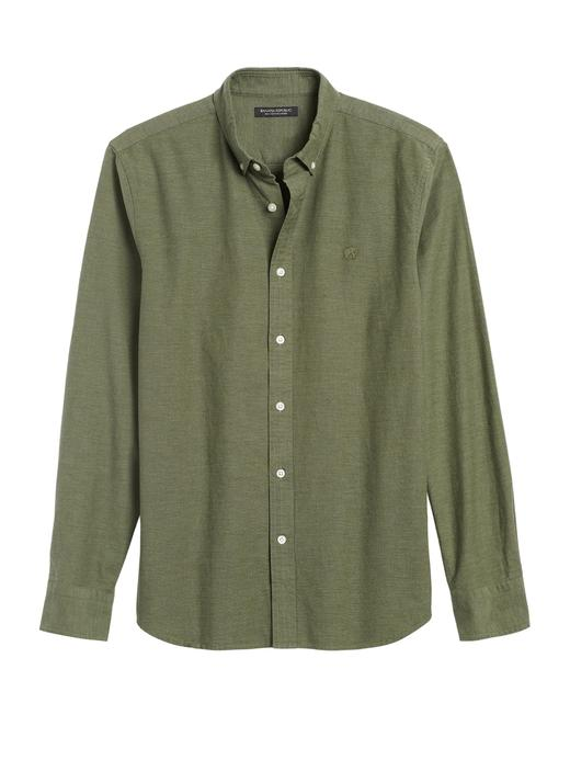 Erkek Yeşil Slim Oxford Gömlek