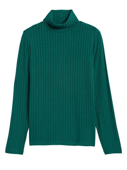 Kadın Yeşil Fitilli Balıkçı Yaka T-Shirt