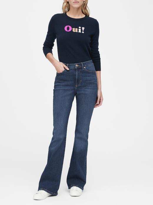 Kadın Mavi High-Rise Jean Pantolon