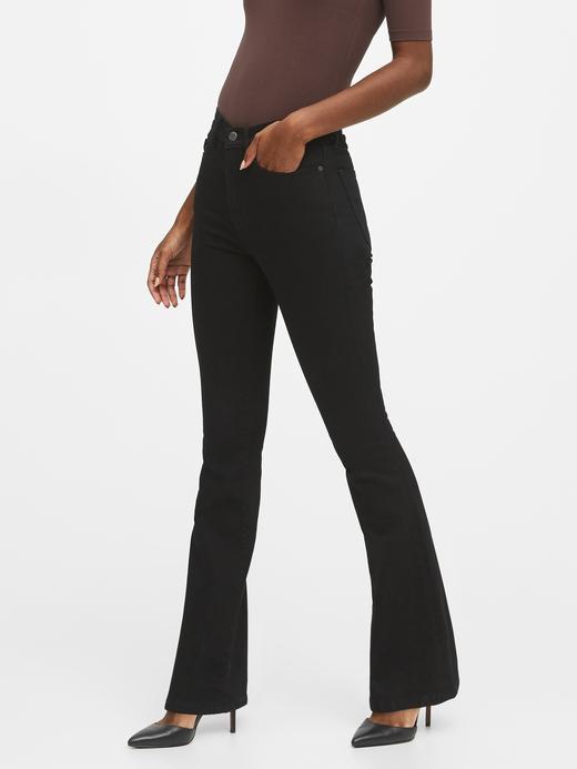 Kadın Siyah TENCEL™ High-Rise Jean Pantolon