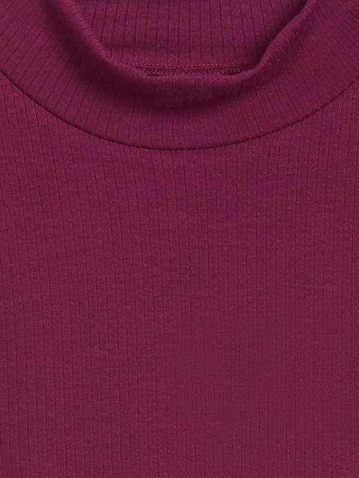 Kadın Kırmızı Fitilli Balıkçı Yaka T-Shirt