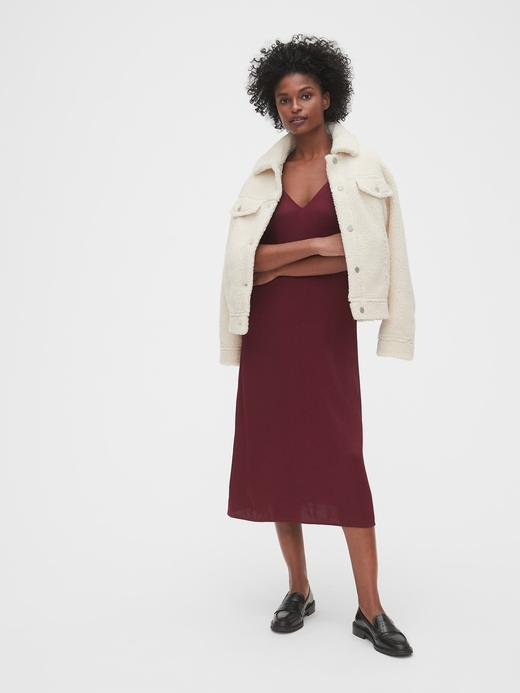 Kadın Siyah Saten Midi Elbise