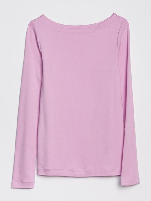 Kadın Yeşil Uzun Kollu Kayık Yaka T-Shirt