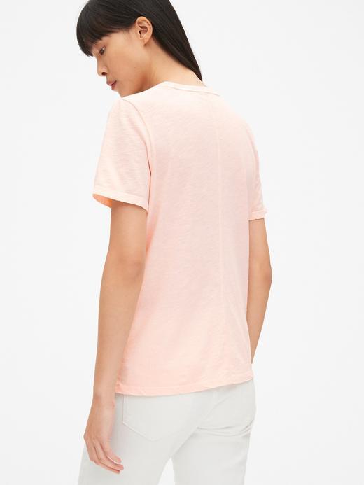 Kadın Turuncu Yuvarlak Yaka T-Shirt