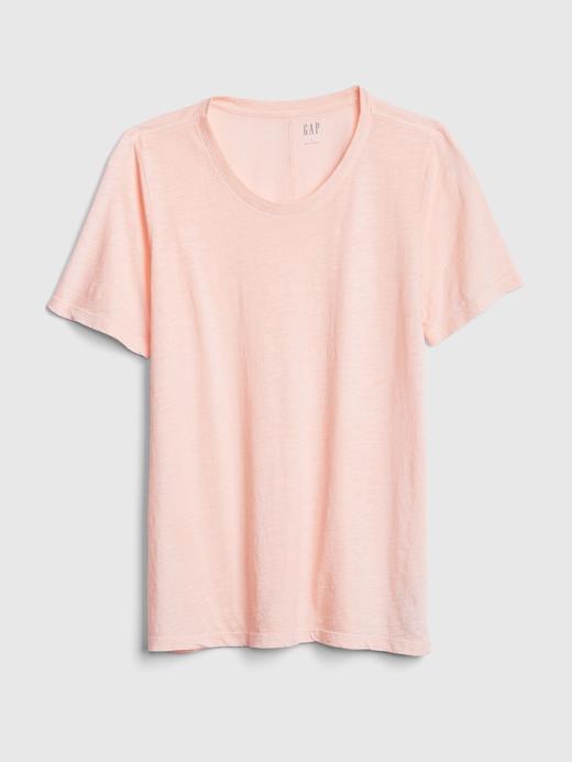 Kadın Pembe Yuvarlak Yaka T-Shirt
