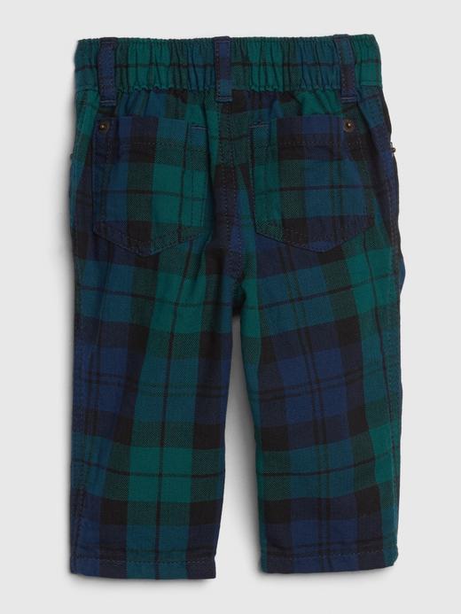 Erkek Bebek Yeşil Ekose Pantolon