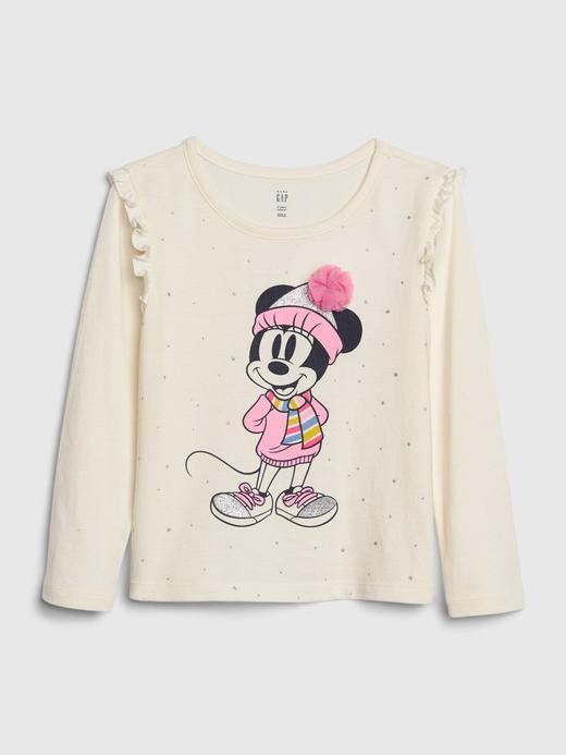 Kız Bebek Bej Disney Minnie Mouse T-Shirt
