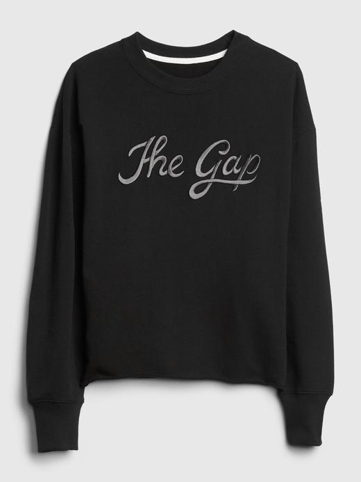 Kadın Siyah Gap Logo Vintage Yumuşak Sweatshirt
