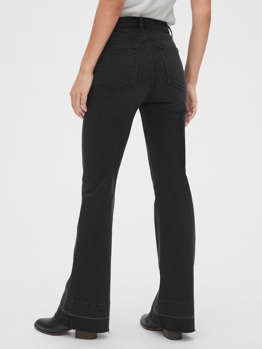 Kadın Siyah High Rise Jean Pantolon