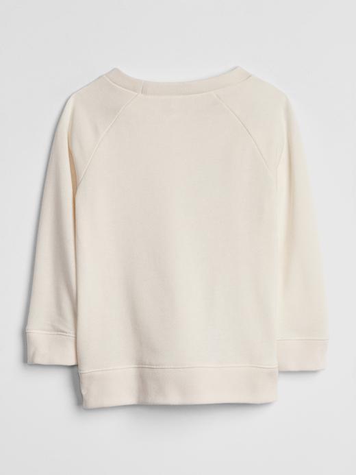 Kız Bebek Bej Ren Geyiği Desenli Tunik Sweatshirt