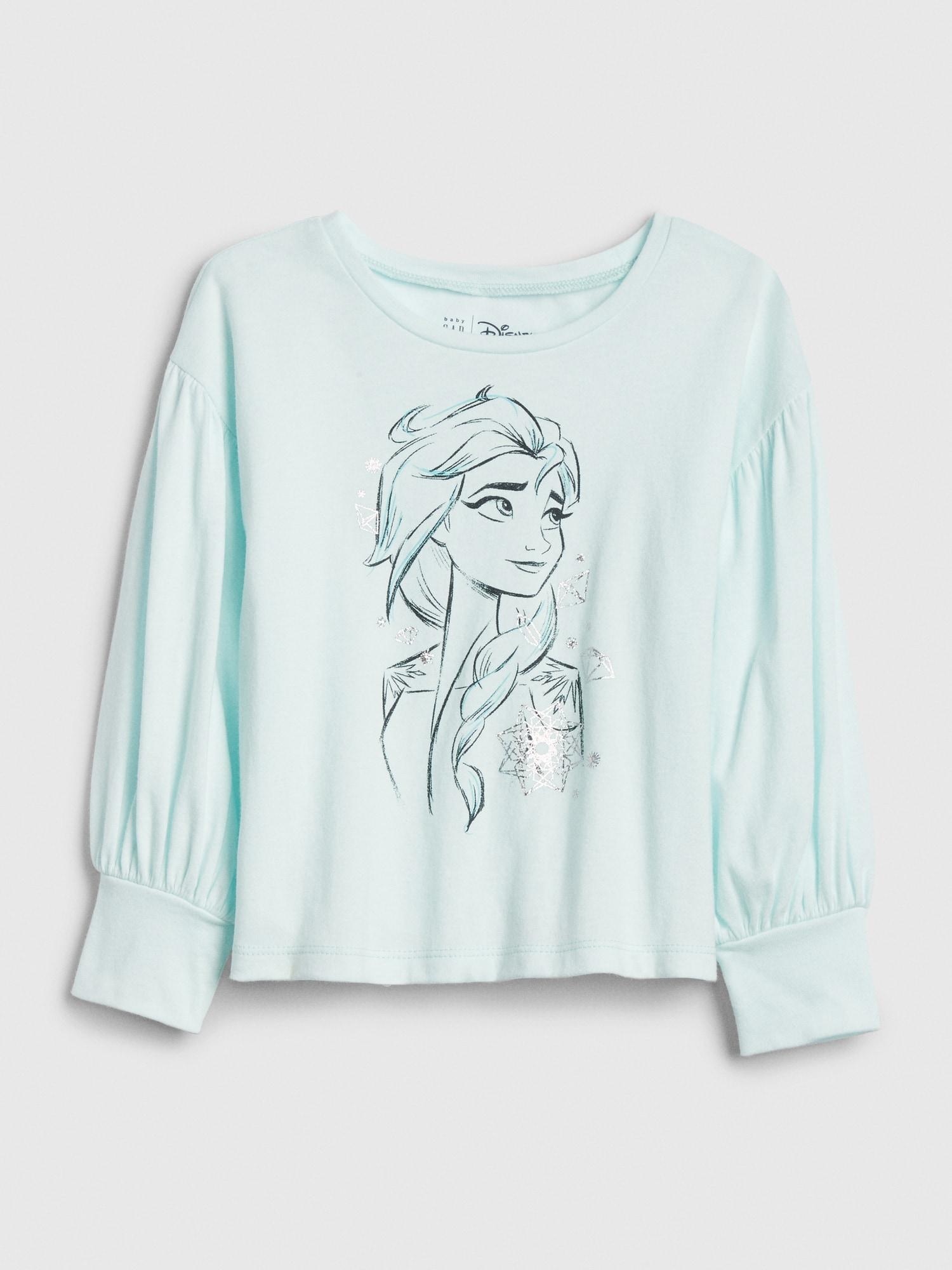 GAP Yeşil Disney Frozen Balon Kollu T-Shirt