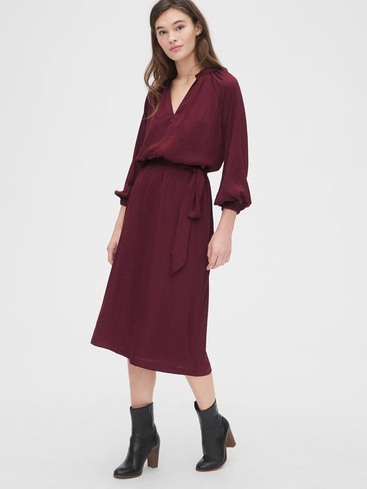 Kadın Kırmızı Midi Elbise