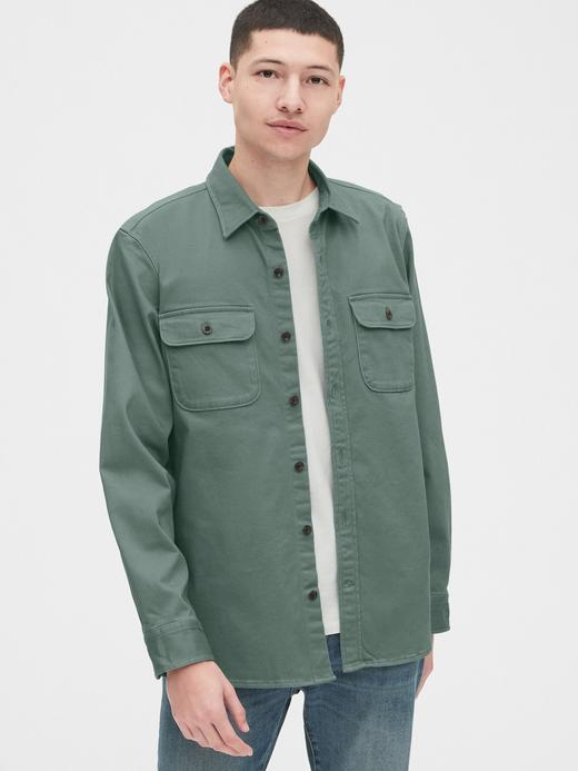 Erkek Yeşil Gömlek Ceket