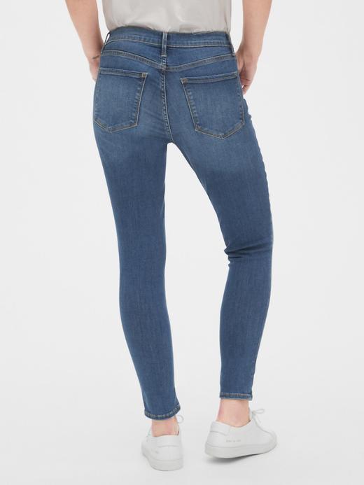 Kadın Mavi Mid Rise True Skinny Jean Pantolon