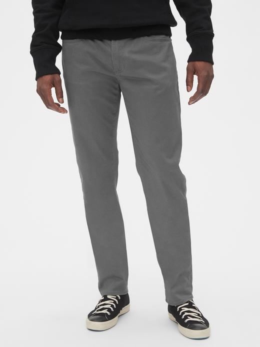 Erkek Gri GapFlex Slim Fit Jean Pantolon