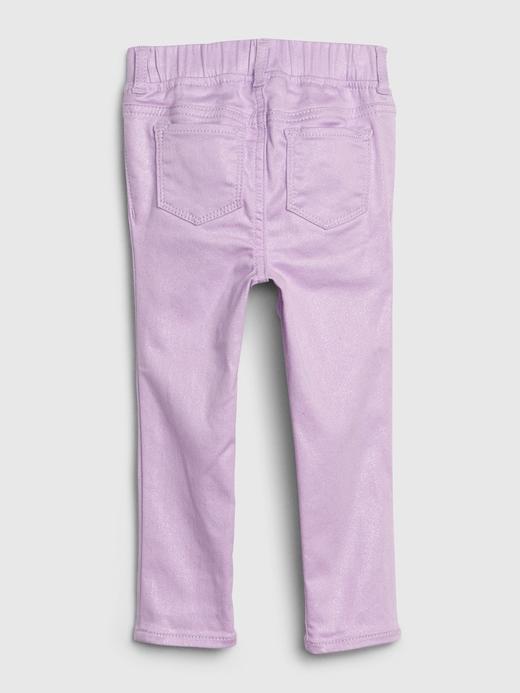 Kız Bebek Mor Fantastiflex Simli Jegging Pantolon