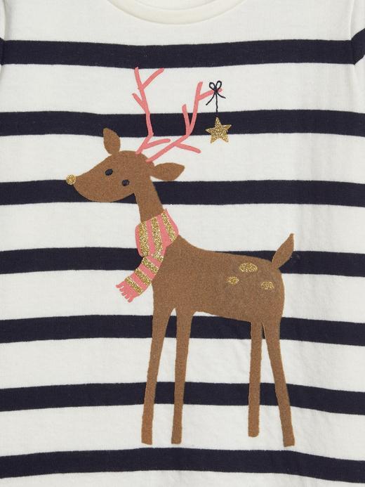 Kız Bebek Bej 3D Grafik T-Shirt