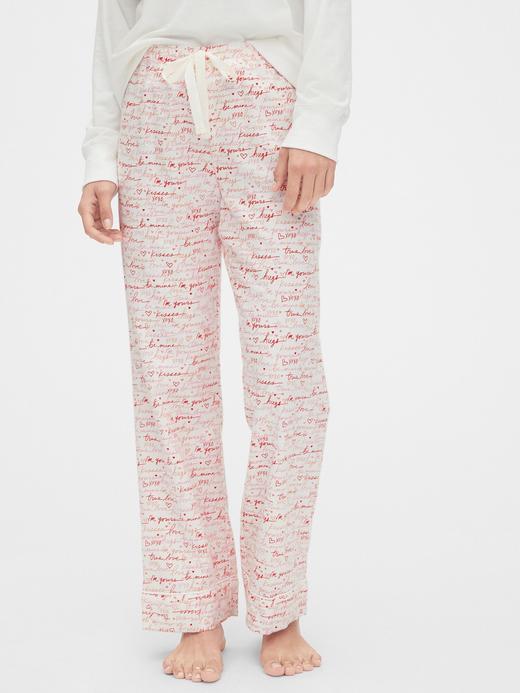 Kadın Bej Desenli Pijama Altı