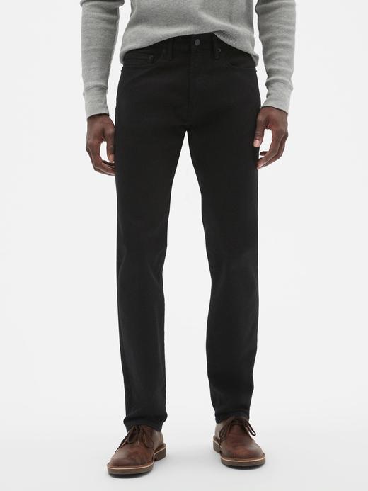 Erkek Siyah GapFlex Slim Fit Jean Pantolon