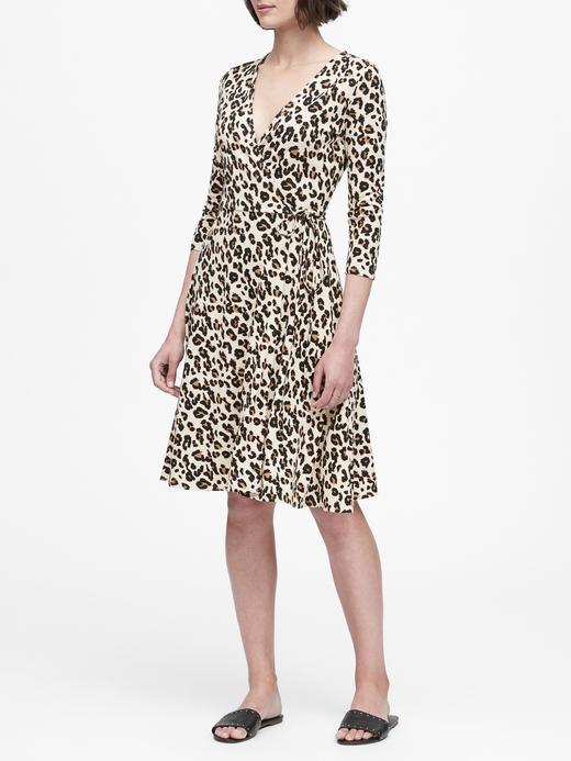 Kadın Kahverengi Desenli Anvelop Elbise