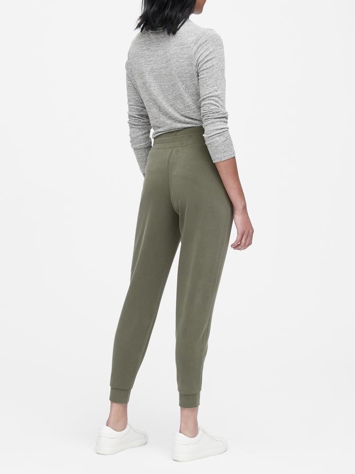 Kadın Yeşil Scuba Triko Jogger Pantolon