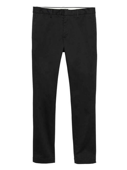 Erkek Siyah Fulton Skinny Chino Pantolon