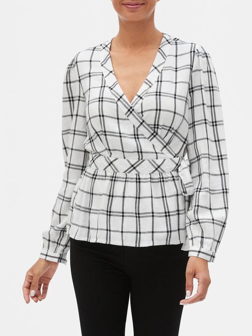 Kadın Beyaz Desenli Anvelop Bluz