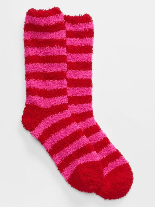 Kadın Pembe Yumuşak Dokulu Çorap