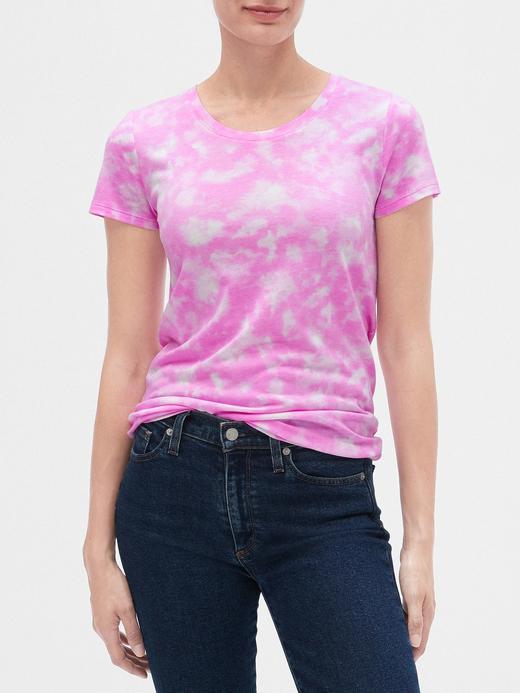 Kadın Pembe Favorite Desenli Sıfır Yaka T-Shirt