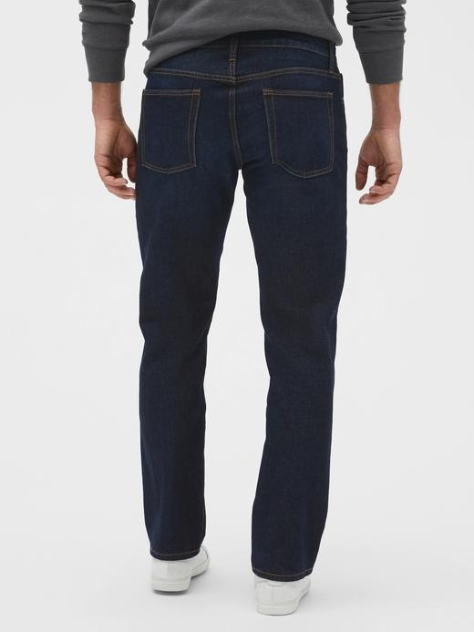 Erkek Lacivert Straight Fit Jean Pantolon
