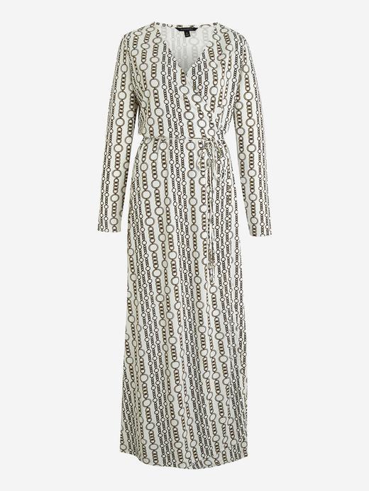 Kadın Lacivert Uzun Kollu Anvelop Maxi Elbise