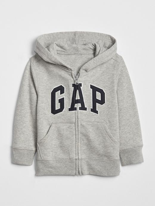 Bebek Gri Gap Logo Kapüşonlu Sweatshirt