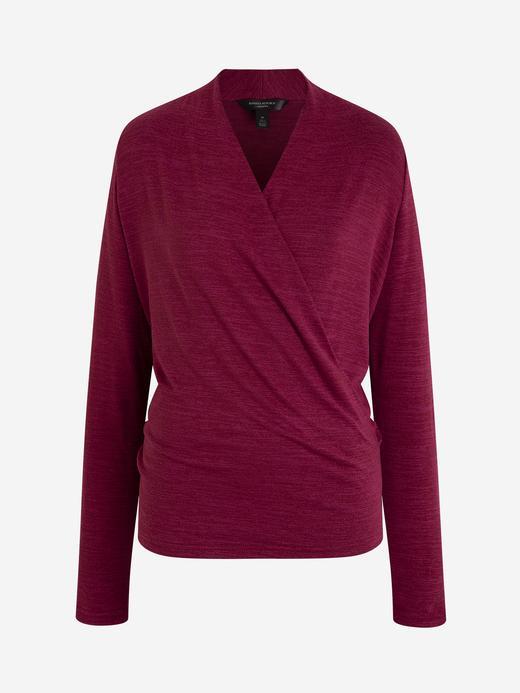 Kadın Kırmızı Luxespun Kruvaze Bluz